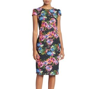 Betsy Johnson Floral Lace Sheath Dress NWT